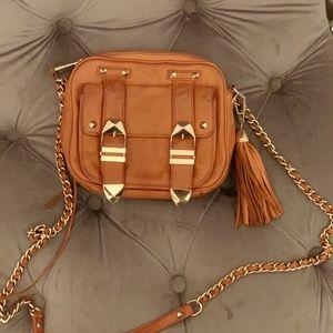 Authentic Rebecca Minkoff camel crossbody bag